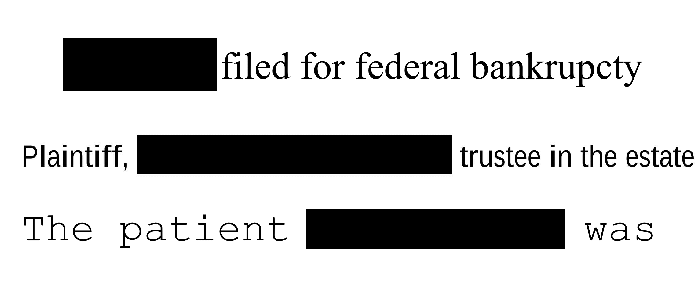 Philter can redact PII and PHI from financial, legal, and healthcare documents.