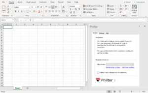 The Philter Add-In can highlight or redact over 30 types of sensitive information in your Microsoft Excel spreadsheets.